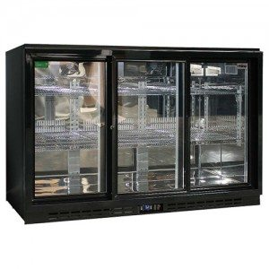Rhino - Commercial 3 Sliding Doors Alfresco Glass Door Fridge - SG3S-B