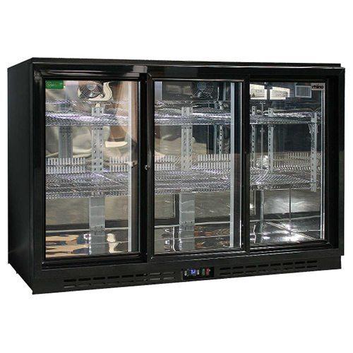 Rhino - Commercial 3 Sliding Doors Alfresco Glass Door Fridge - SG3S-B
