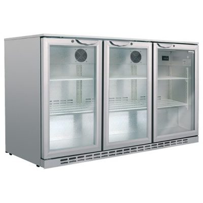 Husky – Classic Bar Fridge – Triple Door 266L