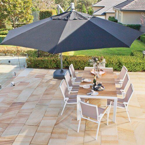shelta san remo 4m octagonal cantilever umbrella heat. Black Bedroom Furniture Sets. Home Design Ideas