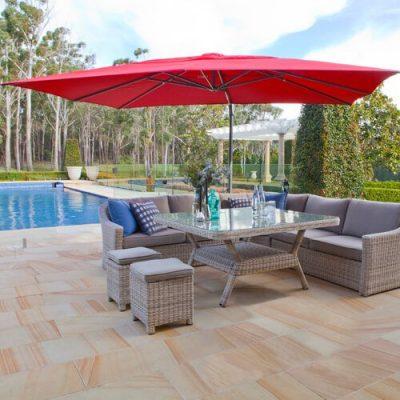 Shelta Savannah 4x3m Rectangular Cantilever Umbrella