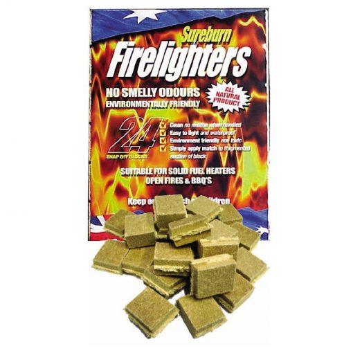 Sureburn Waterproof & Natural Firelighters 24 Pack