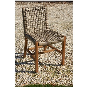 Parker Boyd - Bairo Teak & Wicker Armless Dining Chair