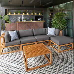 Parker Boyd – Byron Deep Seat 6 Piece Modular Lounge - Featuring Sunbrella