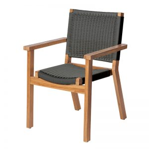 Parker Boyd - Corfu Dining Chair - Black Wicker