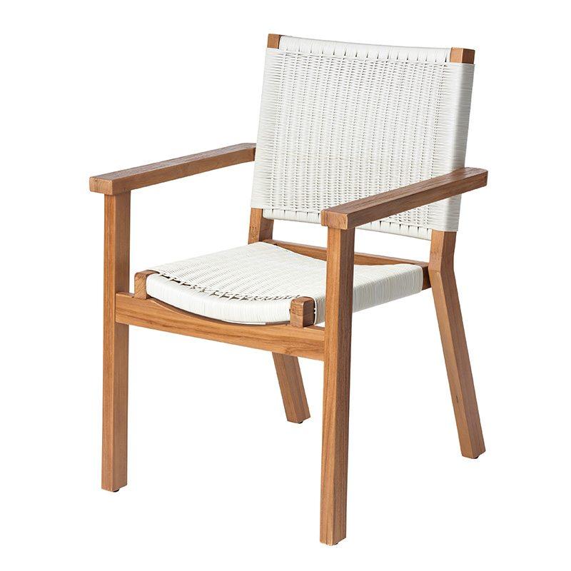 Parker Boyd - Corfu Dining Chair - Manu White Wicker