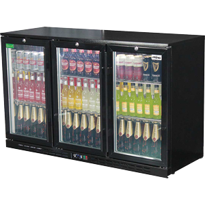 Rhino - Commercial Glass 3 Door Bar Fridge Energy Efficient With LG Compressor