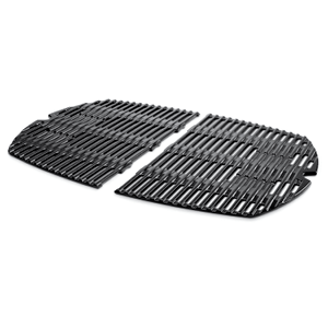 Weber Porcelain-Enamelled Cast-Iron Cooking Grills Set Of 2 – For Family Q 3000/300 Series