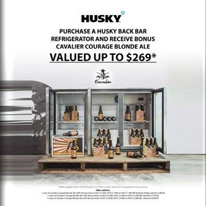 Husky – Classic Bar Fridge – Double Door 190L Black
