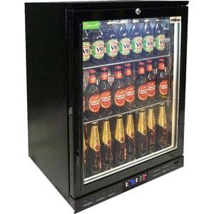 Rhino Black Commercial Glass Door Bar Fridge Energy Efficient
