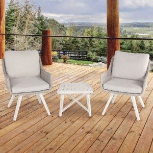 Shelta - Penarth 3 Piece Wicker Chat Setting