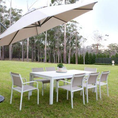 Enjoy your backyard with Shelta umbrellas