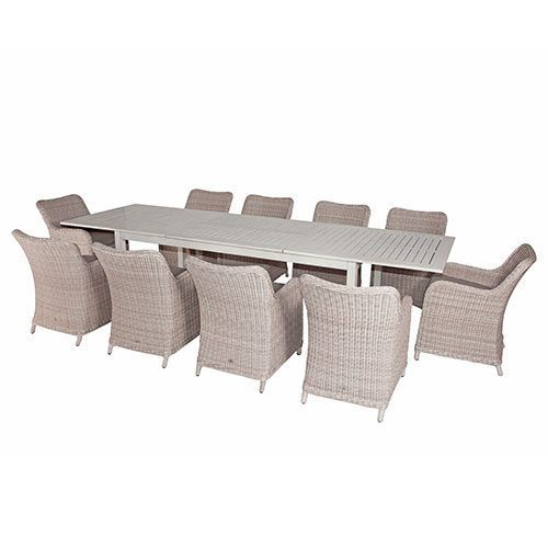 Shelta delaware lawrence 11 piece dining setting with for 11 piece dining table