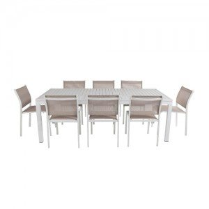 Shelta - Lina / River 7 or 9  Piece Armless Dining Setting