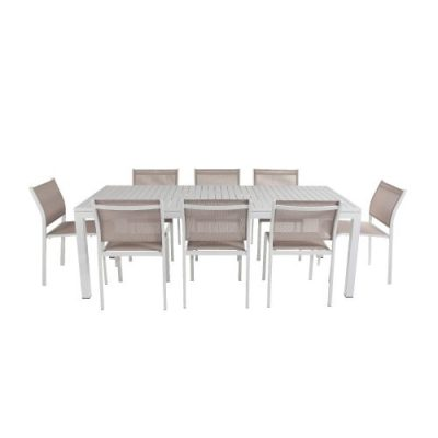 Shelta - Lina / River 9 pcs Dining Setting Armless