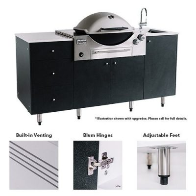 Byron SustainaPod® Outdoor Kitchen for Weber Q3600