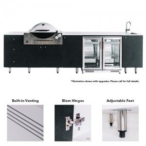 Neptune SustainaPod® Outdoor Kitchen for Weber Q3600 & Summit E460 - E660 Series