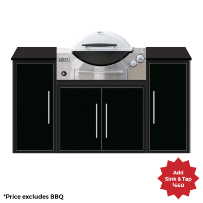 fresco frames weber q courtyard kitchen package