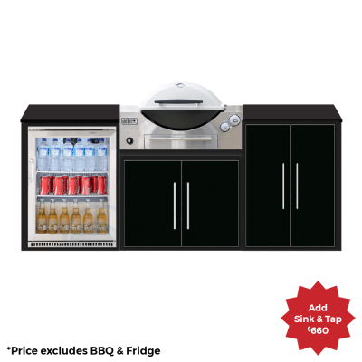 fresco frames weber q 3 module kitchen package