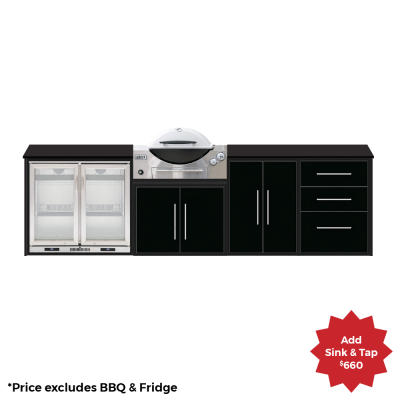 fresco frames weber q 4 module kitchen package