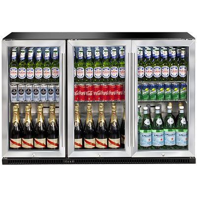 Artusi AOF3S - AOF Series - Triple Door Outdoor Bar Fridge