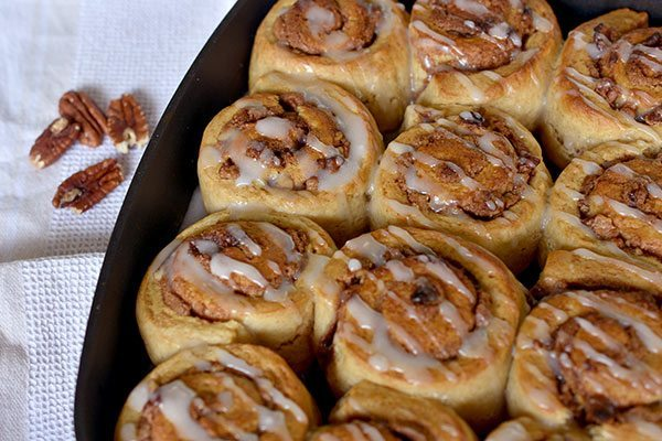 Butterscotch and Pecan Cinnamon Scrolls