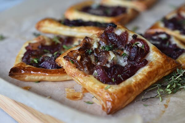 Caramelised Onion, Gorgonzola and Thyme Tartlets