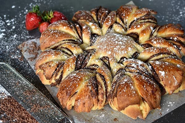 Chocolate Brioche Star
