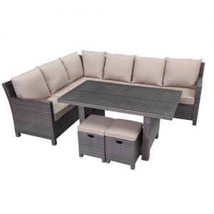 Shelta - Norfolk 5 Piece Corner Modular Dining Setting