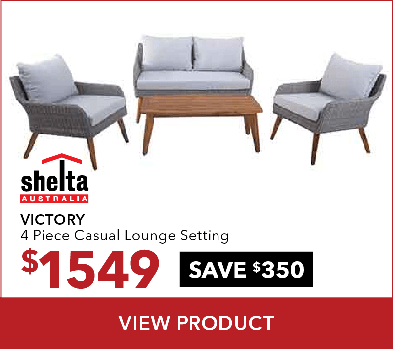 Shelta – Victory 4 Piece Casual Lounge Setting