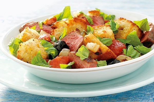 Panzanella Steak Salad