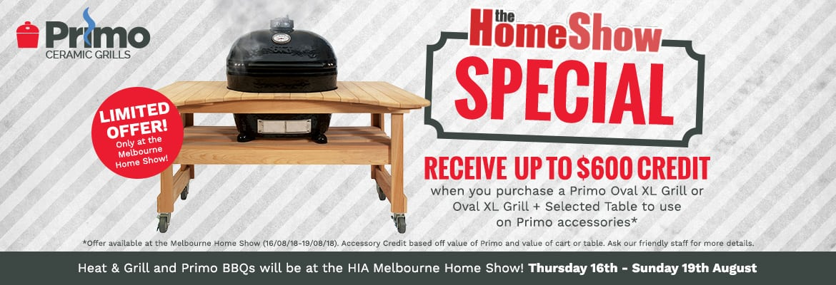 Primo and Heat & Grill at the HIA Home Show