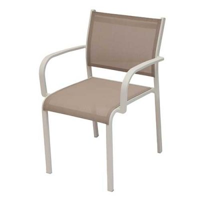 Premium Aluminium Chairs – LINA (Armed) Dining Chair
