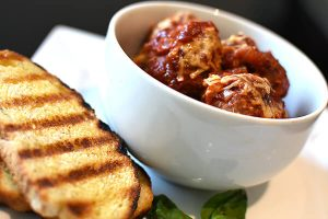 Meatballs in Tomato and Basil Sauce
