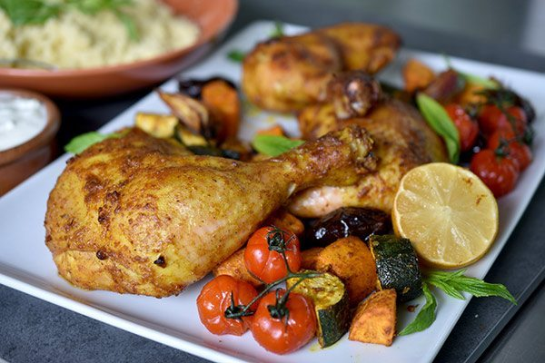 Moroccan Roast Chicken and Vegetables