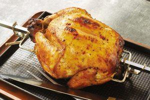 Rotisserie Buttermilk Chicken with Apricot Glaze