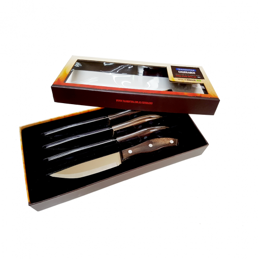 Tramontina Churrasco 4PC Rio Grande Full Tang Steak Knife Set
