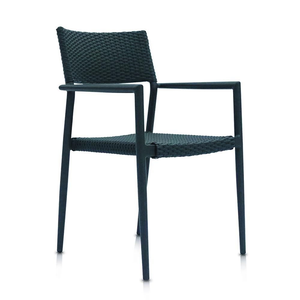 Shelta - Dinan Wicker Chair Charcoal