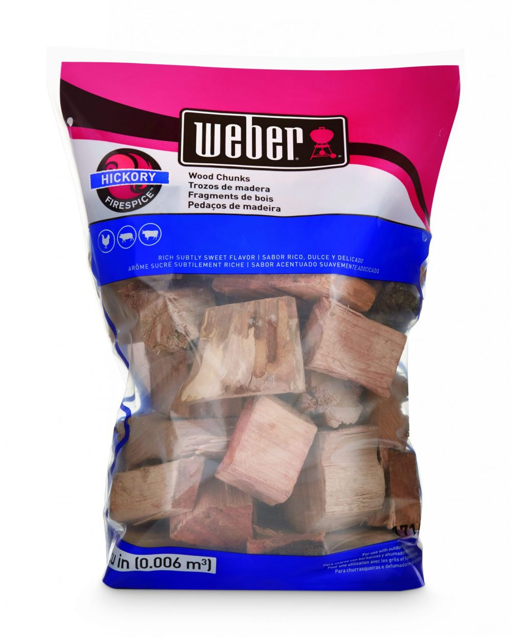 Weber® Firespice Smoking Wood Chunks - Hickory - 1.8 kg