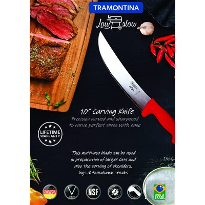 """Tramontina Low & Slow 10"""" Carving Knife"""