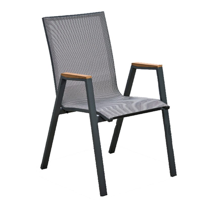 Melton Craft – Austin Sling Chair with Teak Arms