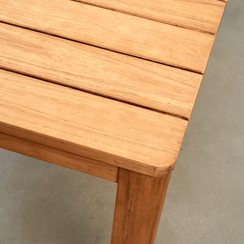 Parker Boyd - Sorrento Teak Dining Table closeup