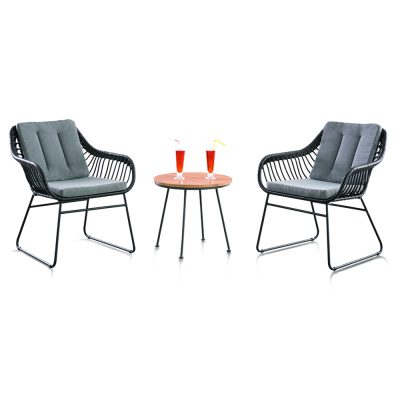 Shelta - Rosario 3 Piece Wicker Chat Setting