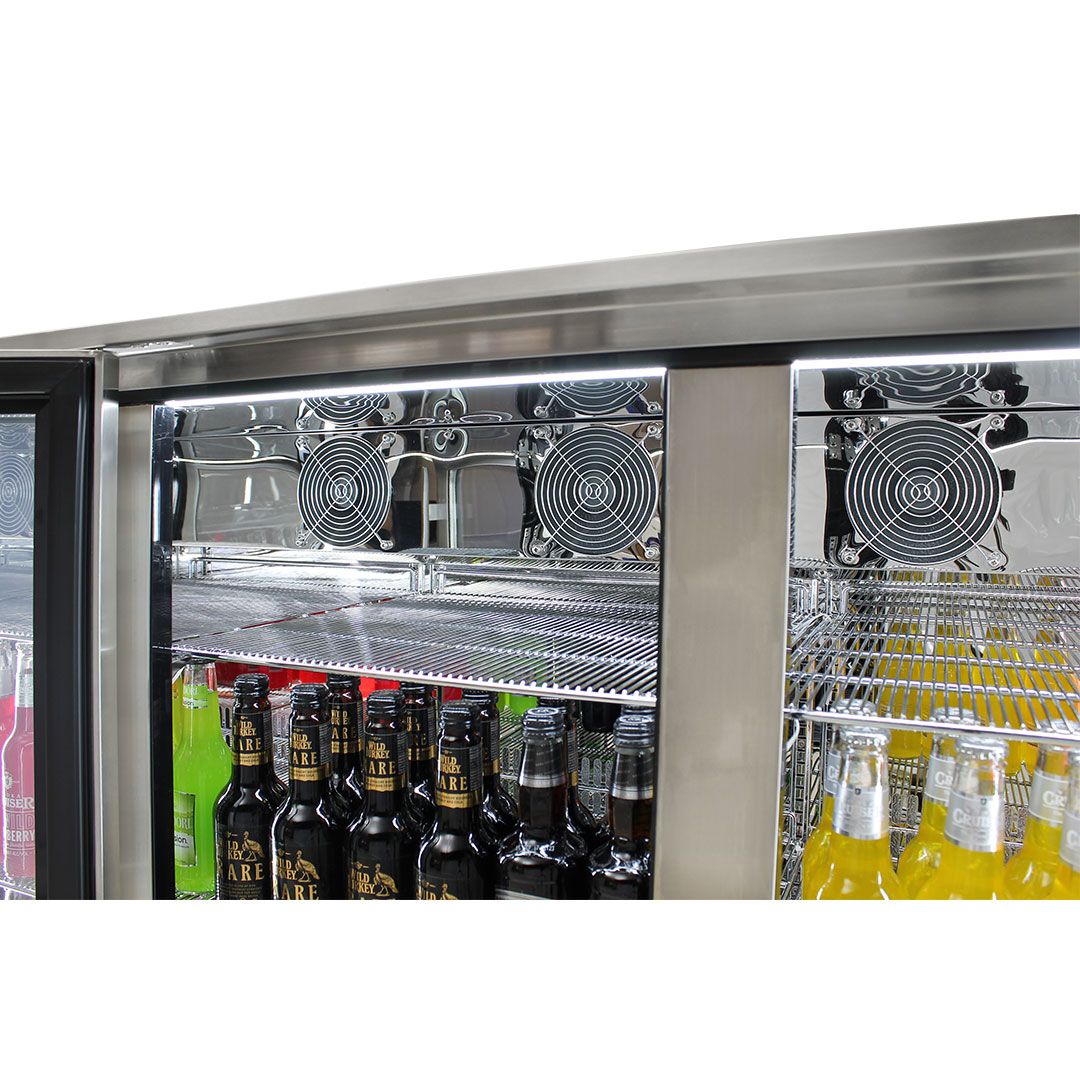 Rhino – ENVY 3 Door Alfresco Bar Fridge ENV3H-SS 12