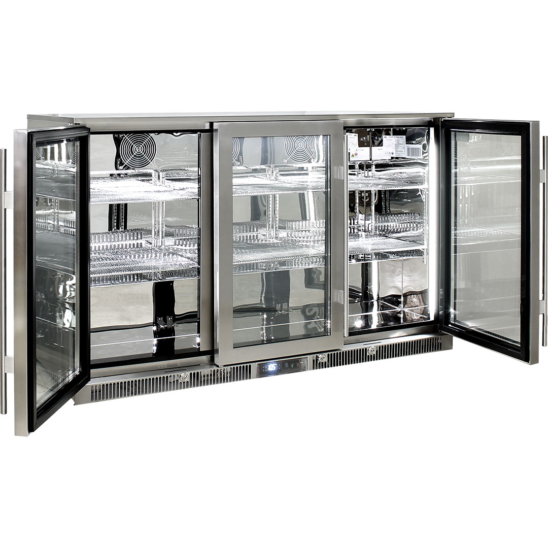 Rhino – ENVY 3 Door Alfresco Bar Fridge ENV3H-SS 8