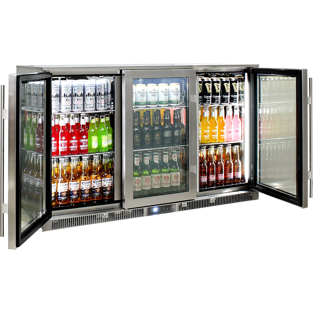 Rhino – ENVY 3 Door Alfresco Bar Fridge ENV3H-SS 9