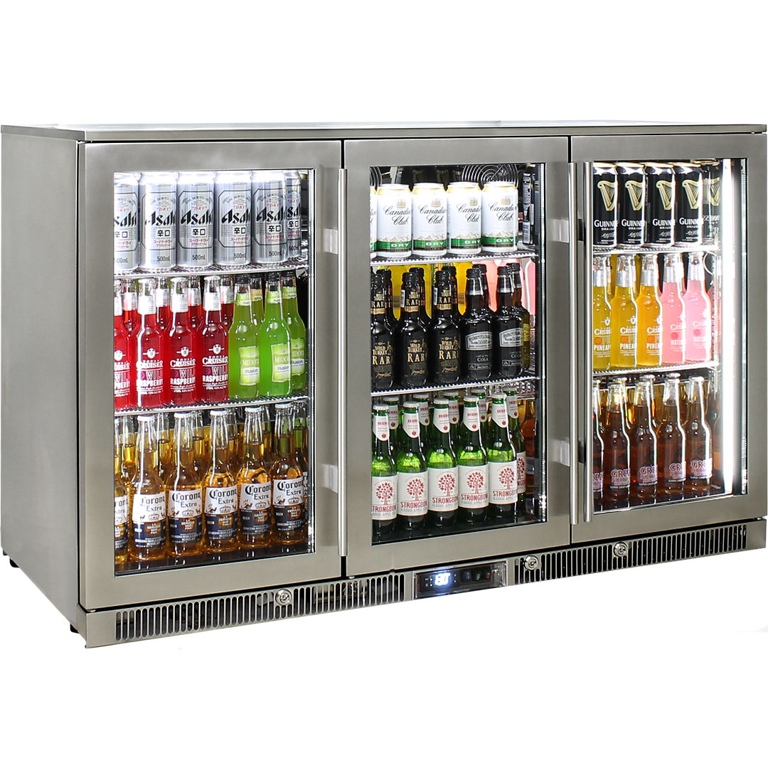 Rhino – ENVY 3 Door Alfresco Bar Fridge ENV3H-SS