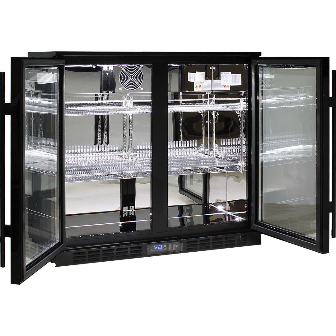Rhino-Under-Bench-Black-2-Door-Commercial-Alfresco-Bar-Fridge__4_