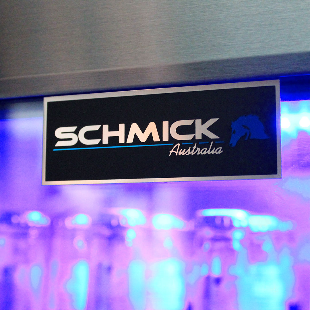 Schmick Black Stainless Steel Bar Fridge SK118L-BS