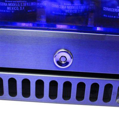Schmick Black Stainless Steel Bar Fridge SK118R-BS
